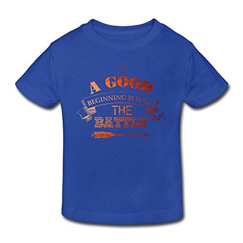 - Cotton Short Sleeve A Good Beginning Is Half The Battle Toddler Girl's Boy's Tshirt