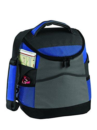 16 Can Ultimate Tailgating, Engineered, Lunch Bag Cooler with Adjustable Shoulder Strap and Multiple Slip Pockets & Side Mesh Pockets (Royal -