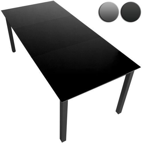 Gartentisch Glastisch Beistelltisch Aluminium (Farbwahl) - 190x87cm