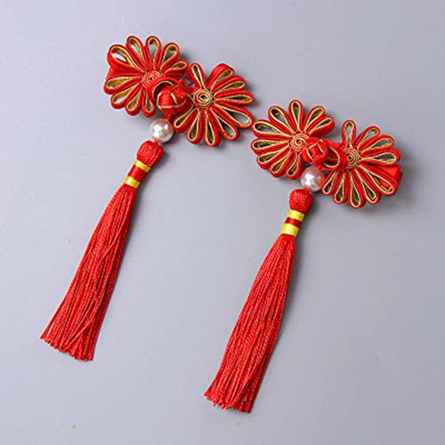 Stick Princess Duo - Chinese su-Hua Duo Gege Romantic Hair Accessories Hairpin Children Jewelry Girl Over Years Girl Baby Girls Princess Flower Head (tie Patterns - red