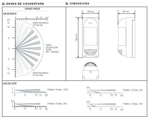 Optex vxi-r detector de movimiento exterior de: Amazon.es: Bricolaje y herramientas