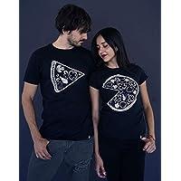 pizza couple - Playera (corte dama y caballero 2 colores)