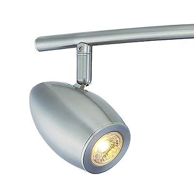 Designers Fountain EVT101727-35 Modern 3'. Brushed Nickel LED Track Lighting Kit with 4 Led Track Lights 1910 Lumens