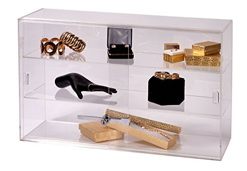 SSWBasics 2-Shelf Acrylic Countertop Display Case (Comes with Lock & Key)