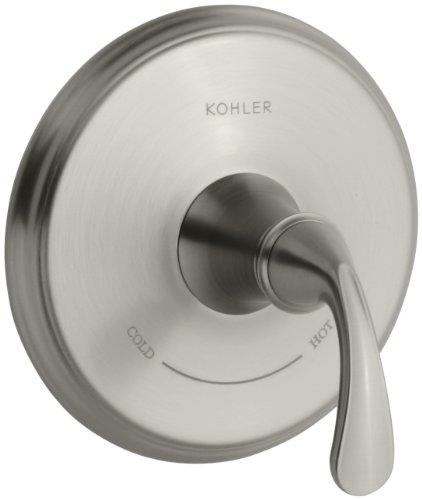KOHLER K-T10359-4-BN Forte Thermostatic Trim, Vibrant Brushed Nickel