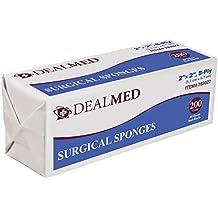 "Dealmed Medical Surgical Sponges, 2"" x 2"", 8 Ply, 200 Per Sleeve"
