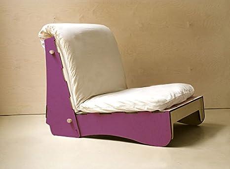 viverezen – Sillón cama futón D4 con futón de algodón látex 11 cm: Amazon.es: Hogar