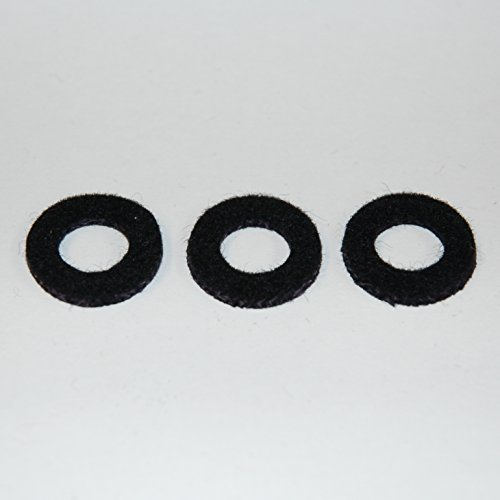 Yamaha Valve Top Cap Felt Washer Black Trumpet Cornet Flugelhorn Set of 3