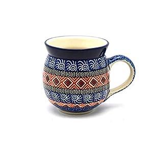 Polish Pottery Mug – 15 oz. Bubble – Aztec Sun