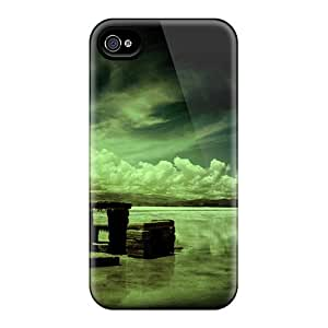 Protective Tpu Case With Fashion Design For Iphone 4/4s (bench On The Beach)