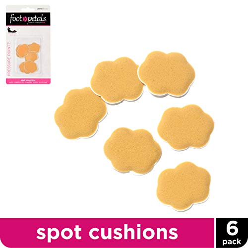(Foot Petals Pressure Pointz Spot Cushions - Blister-Preventing Foam Shoe Inserts, Set of 6)