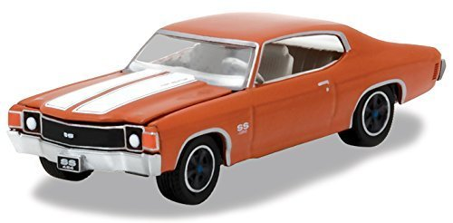 1972 Chevrolet Chevelle SS, Orange Flame - Greenlight 13180/48 - 1/64 Scale Diecast Model Toy Car (Assortment Carded)