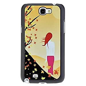 Back of Woman Pattern Hard Case for Samsung Galaxy Note 2 N7100