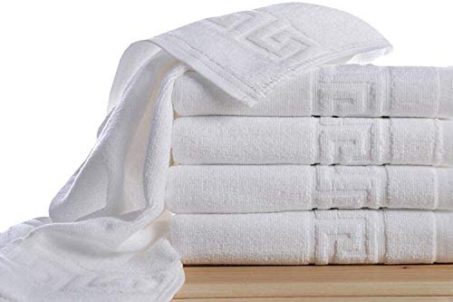 Royal Europe Textile - Toalla GRECA 450gr/m2 100% ALGODÓN Blanca. Pack 10 ud: Amazon.es: Hogar