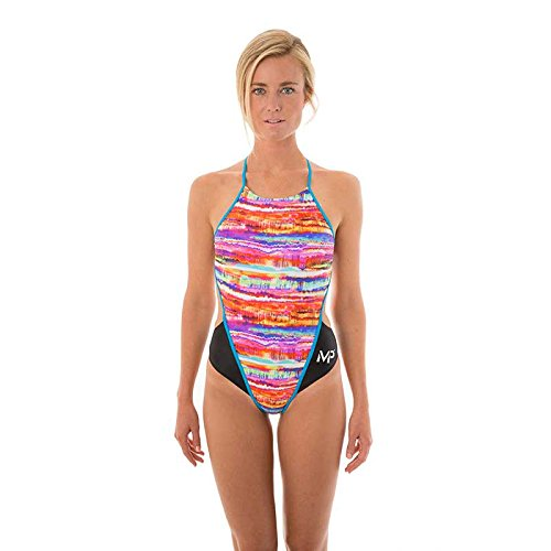 MP – Michael Phelps Damen Domino swimsuit-black/blau
