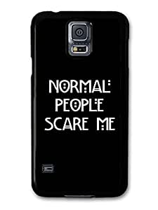 AMAF ? Accessories American Horror Story Murder House Normal People Scare Me Evan Peters Emma Roberts Quote case for Samsung Galaxy S5