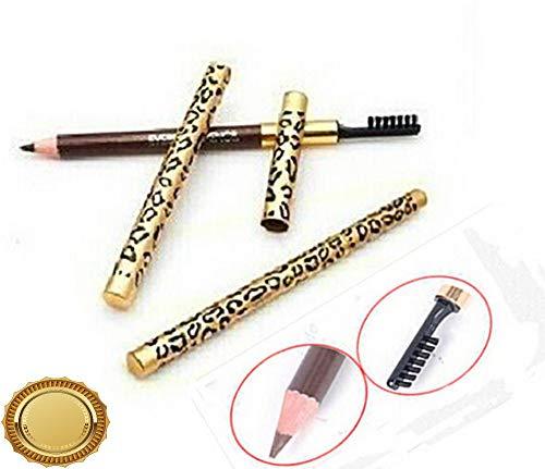 (Gatton 2 in 1 Leopard Longlasting Waterproof Make Up Eyeliner Eyebrow Pencil Brush EY | Style)