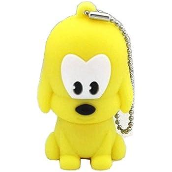 Aneew 16GB Cartoon Animal Yellow Dog Model USB Flash Drive Memory Thumb Pendrive