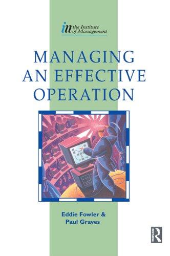 Managing Effective Operation Institute Management Ebook PDF