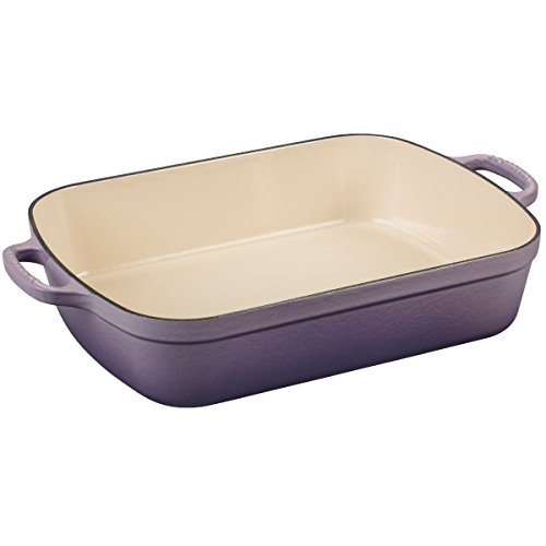 Le Creuset Signature Provence Enameled Cast Iron 5.25 Quart Rectangular Roaster ()