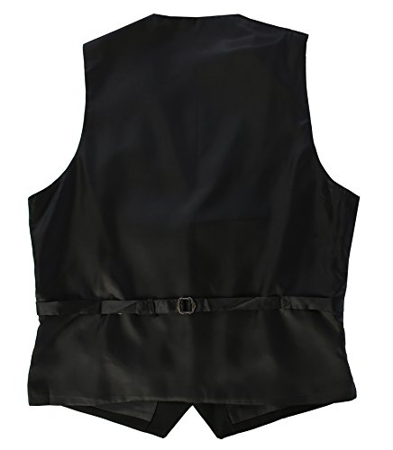 Gioberti Mens 5 Button Formal Suit Vest, Black, X-Large by Gioberti (Image #2)