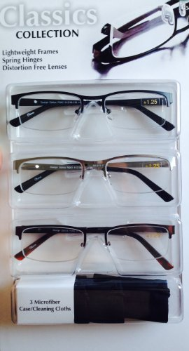 Classics Collection +125, Lightweight Frames, Spring Hinge, Distortion Free ()