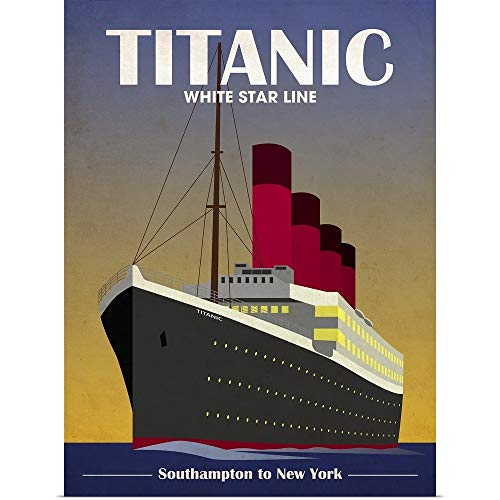 GREATBIGCANVAS Poster Print Entitled Titanic Ocean Liner Art Deco by Michael Tompsett 36