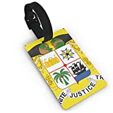 KODW12 Coat of Arms of Benin Luggage Tag Travel Bag Labels Suitcase Bag Tag Name Address Cards