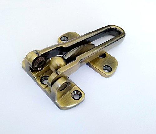 Bar Latch Brass - TOGU Solid Thicken Security Door Guard,Gate Latches Swing Bar Door Guard,Burglar-Proof Padlock Door Clasp for Home,Apartment,Hotel,Motel,Dormitory,Antique Brass