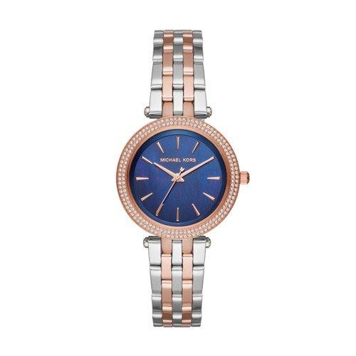 Michael Kors Women's Mini Darci Silver-Tone Watch - Kors Gold And Rose Silver Michael