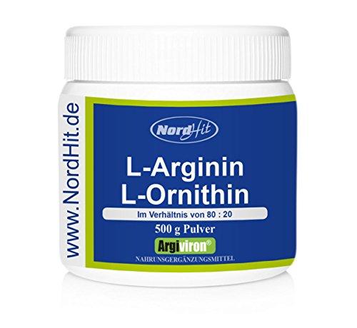 NordHit L-Arginin + L-Ornithin 80:20 - 500 g Pulver