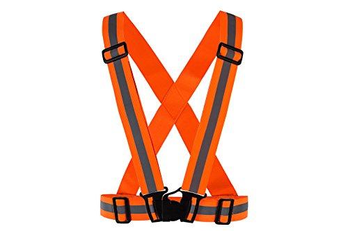 Meyerglobal Reflective Vest, High Visibility, Safety Adjustable Belt Regular Size (5piecesOrange, Regular Size) by Meyerglobal