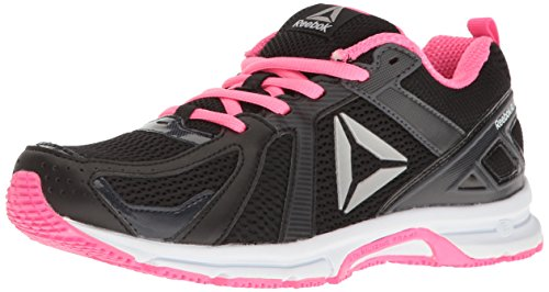 Reebok Women's Runner MT Running Shoe, Black/Poison Pink/Silver, 7.5 C/D US