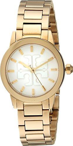 Tory Burch Women's Gigi Watch, 28mm, Ivory/Gold, One Size (Watch Gold Tory Burch)