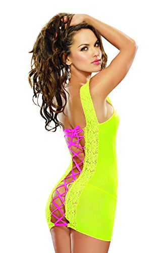 Dreamgirl Women's Be Tempting Chemise and G-String
