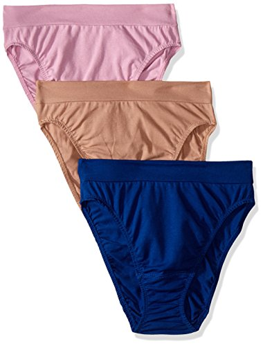 Fruit of the Loom Womens  3 Pack Cotton Hi-Cut Panties  Assorted Colors