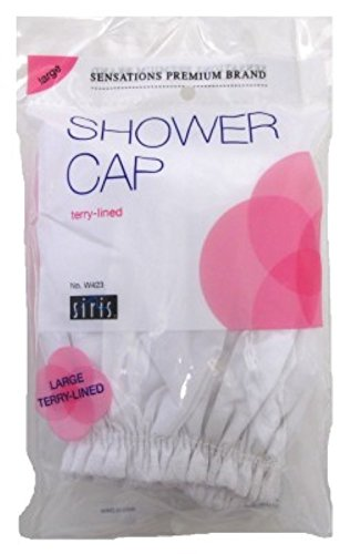 Siris Shower Cap Large Terry Lined Vinyl (Assorted Colors) (6 Pack)