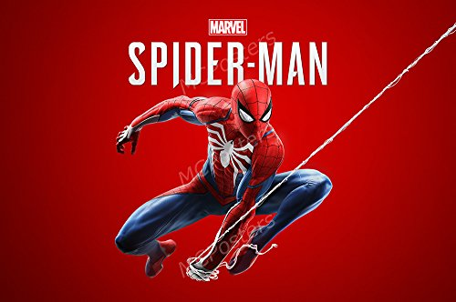 MCPosters Spider-Man PS4 Poster GLOSSY FINISH - NVG169 (24