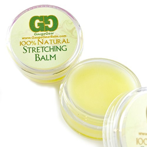 Gauge Gear Ear Stretching Balm Cream, Used for Plugs, Tapers, Expanders 10ml (Gear Gauges)