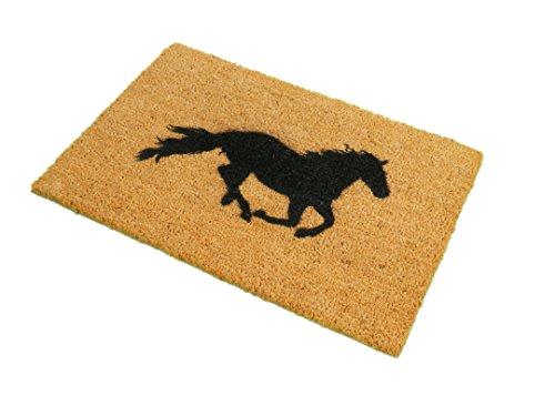 CKB Ltd Horse Novelty Doormat Unique Doormats Front/Back Funny Door Mats Made With A Non-Slip Pvc Backing - Natural Coir - Indoor & Outdoor Horse Door Mat