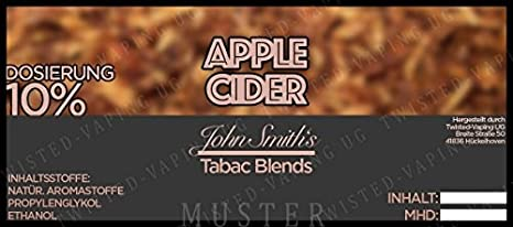 Twisted Aroma John Smith´s Blended Tobacco Flavor Apple Cider