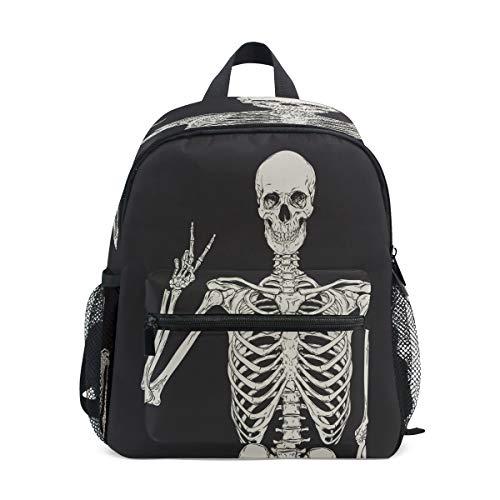 Use4 Human Skeleton Skull Backpack School Shoulder Bag]()