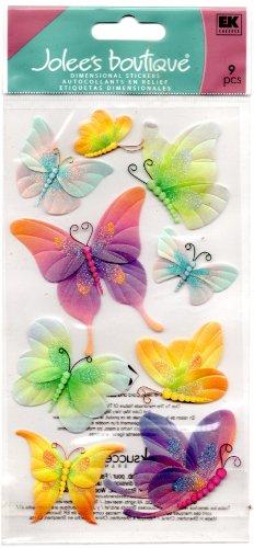Le Grande Vellum Dimensional Stickers - Jolee'S Boutique Dimensional Stickers-Vellum Butterflies