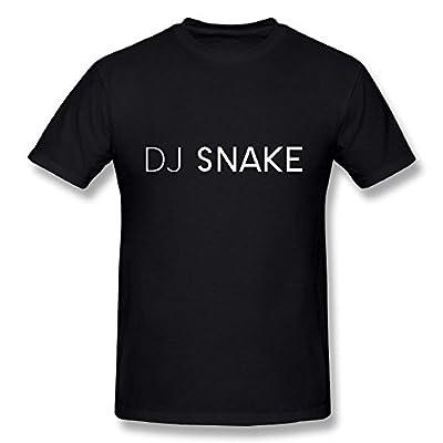 TisEEaZs Men's DJ Snake T Shirt - Funny T-Shirt Black