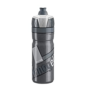 Elite Nanogelite Thermal Bicycle Water Bottle - 500 ml (SMOKE white graphic)