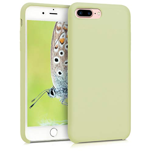 kwmobile TPU Silicone Case for Apple iPhone 7 Plus / 8 Plus - Soft Flexible Rubber Protective Cover - Pistachio Green]()