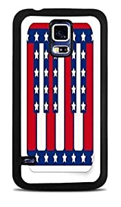 Piano Keys American Flag Black Silicone Case for Samsung Galaxy S5