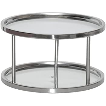 Amazon Com Two Tier Lazy Susan Turntable For Cabinet