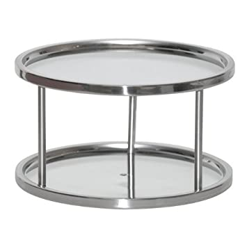 Amazon.com - Two Tier Lazy Susan Turntable For Cabinet-Steel ...