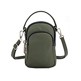 Nylon Small Crossbody Bag Shoulder Bag Handbag Multi-Pockets Women Girls with Handy Carry